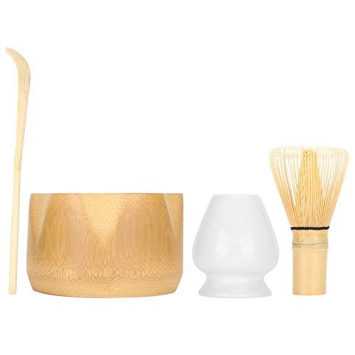 Juego de té matcha japonés, batidor de matcha, cuchara tradicional, cuenco de matcha, soporte de batidor de cerámica, kit de ceremonia de matcha hecho a mano para la ceremonia del té tradicional japon