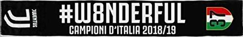 Sciarpa Ufficiale in Acrilico Jacquard Juventus JJ #W8NDERUL Campioni d'Italia 37 Stagione 2018/2019