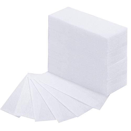 400 Stücke Vlies Wachs Streifen Gesicht und Körper Haarentfernung Wachs Streifen Epilieren Wachs Streifen Papier, Weiß