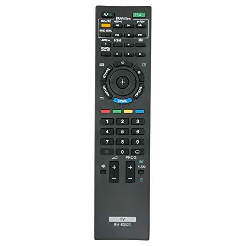 VINABTY RM-ED022 Ersatz Fernbedienung für Sony KDL-22BX200 KDL-22EX302 KDL-26EX301 KDL-26EX302 KDL-32EX302 KDL-32EX401 KDL-32NX50 KDL-37EX302 KDL-40EX402 KDL-40NX500 KDL-40EX600 KDL-46EX400 TV