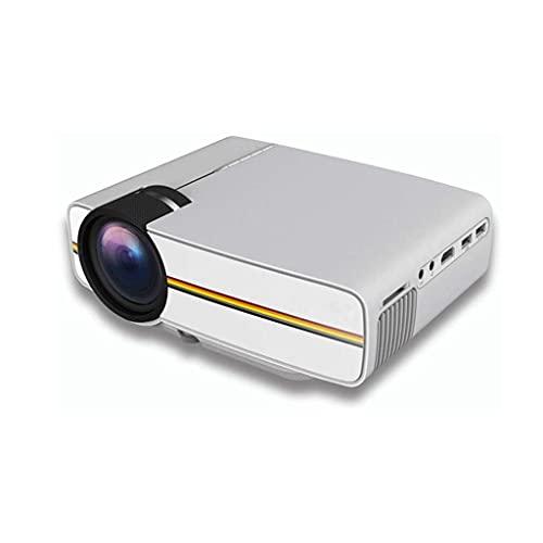 ZHSHML TYYJY Mini Proyector, Proyector Portátil, Full HD 1080P Apoyado, Espejo de Pantalla Inalámbrico