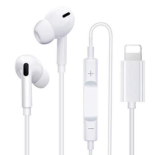In-Ear Auriculares para iPhone 11 [Control de Volumen Micrófono Llamada] Auriculares de Cable Sonido Estéreo Auriculares Bluetooth Compatible para iPhone 12/11/XS/XR/X/8Plus/7Plus con Todos los iOS