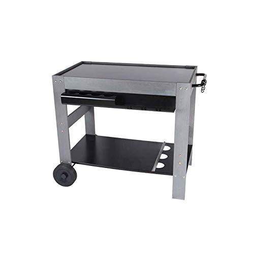 VERYCOOK Servier- & Grillwagen, Holz & Metall