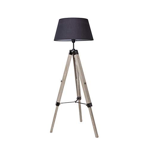 Lámpara de Pie LED Lámpara de Suelo Moderno Lámpara Vertical en Madera con Trípode Removible para Sala de Estar, Dormitorio, Estudio [Clase de eficiencia energética A++]