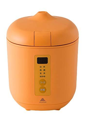 【10分ごはん】炊飯器poddi(ポッディー)(オレンジ)1.5合一人用サイズ