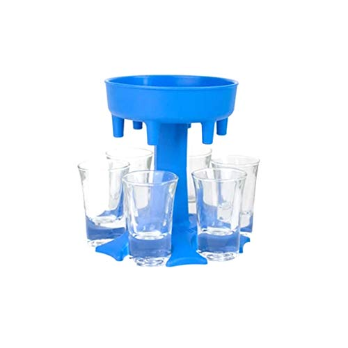 6 Shot Glass Dispenser and Holder with 6 Pcs 1.2oz Acrylic Cup, Dispenser for Filling Liquids Shots Dispenser Glass Dispenser Lifter Party Favors for Bar Cocktail Great Party