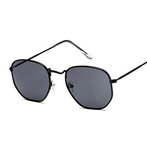 Gafas De Sol Hexagonales para Hombre, Marca Clásica, Lente Plana, Gafas De Sol Transparentes para Hombre Y Mujer, Retro, Pequeño Marco De Metal, Cristal Cuadrado