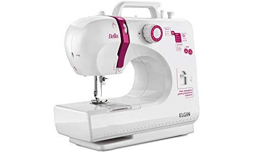 Maquina de Costura Bella Elgin Branco / Rosa