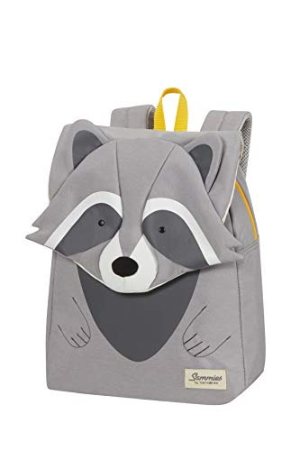 Samsonite Happy Sammies Eco - Kinderrucksack S+, 32 cm, 11 L, Grau (Raccoon Remy)