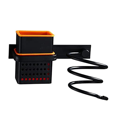 MBMB Soporte para secador de pelo, soporte de pared para secador, secador de pelo y plancha de pelo, soporte para secador de pelo, soporte para secador de pelo, soporte para plancha (simple)