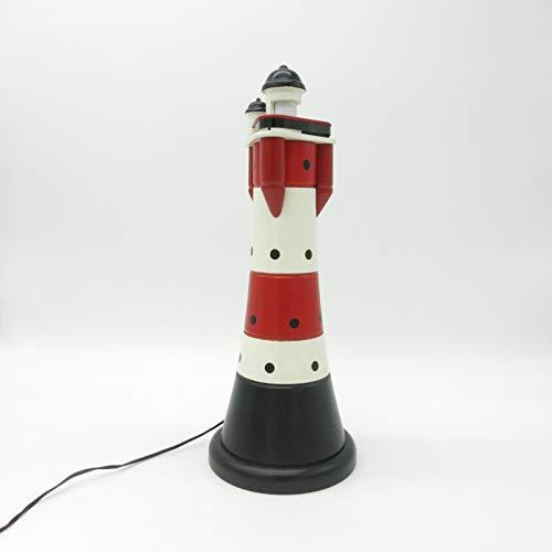 CAGO Leuchtturm Tischlampe Tischleuchte Leuchte Dekoration maritim blinkend Geschenk Leuchtturmlampe