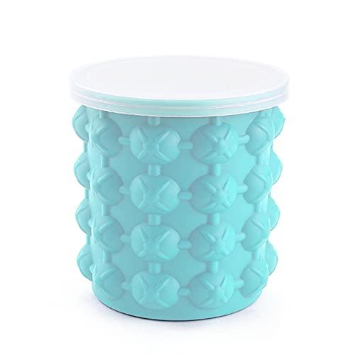 WXHXSRJ Cubo de Hielo de Silicona, máquina de Cubitos de Hielo Reutilizable, Cubo de Hielo de enfriamiento rápido con Tapa, para Whisky Home Bar, 2 Piezas,L