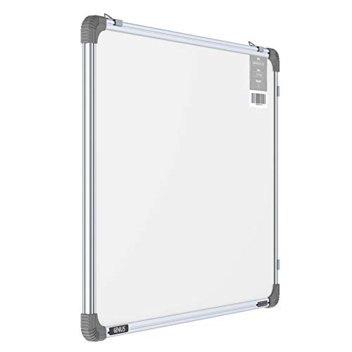 Pragati Systems® Genius Regular Steel (Magnetic) Whiteboard for Office, Home & School (GRMWB4560), Lightweight Aluminium Frame, 1.5x2 Feet (Pack of 1)