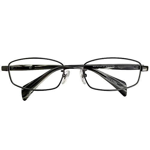 SHOWA 遠近両用メガネ エックスコード (メンズセット) 全額返金保証 境目のない 遠近両用 眼鏡 老眼鏡 おしゃれ メンズ 男性 リーディンググラス (瞳孔間距離:女性平均60mm〜62mm, 近くを見る度数:+1.5)