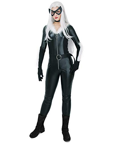 miccostumes Women's Black Cat Cosplay Costume Bodysuit with Choker