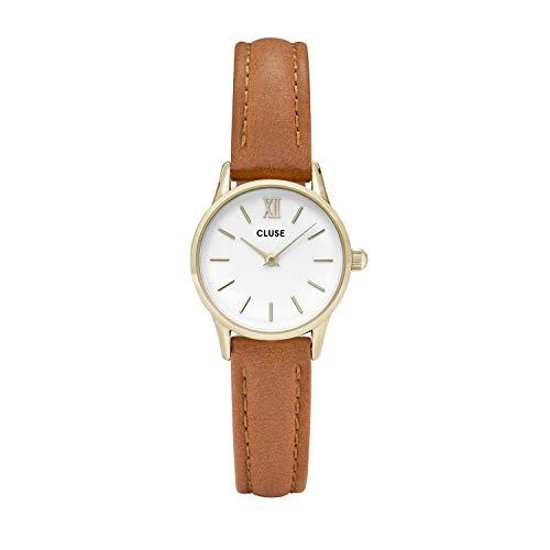 Cluse Unisex Erwachsene Digital Quarz Uhr mit Leder Armband CL50022