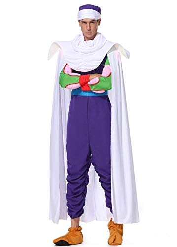 LJYNB Halloween Mens Dragon balls Son Goku disfraz Piccolo juego de rol ropa juegos completos Master Roshi disfraces XL Piccolo
