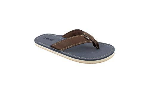 Dockers Men#039s Flip Flop Sandal  Classic Comfort Footbed with TwoTone Upper Men#039s Size 1112 Navy Pebble