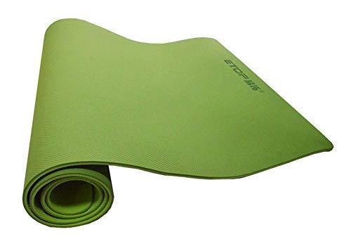 FACAI Eco-Friendly inodore Antiscivolo Fitness Mat TPE Yoga Mat Pilate Pad Tappetino,Verde