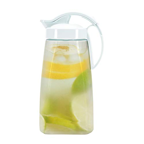 Quickpour Airtight And High Heat Resistant Pitcher With Locking Spout.