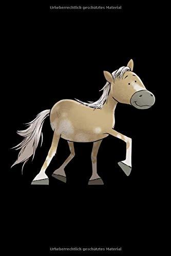 Haflinger Pferd: Notizbuch / Notizheft für Comic Cartoon Haflinger Pferd Pony Reiter-in A5 (6x9in) dotted Punktraster