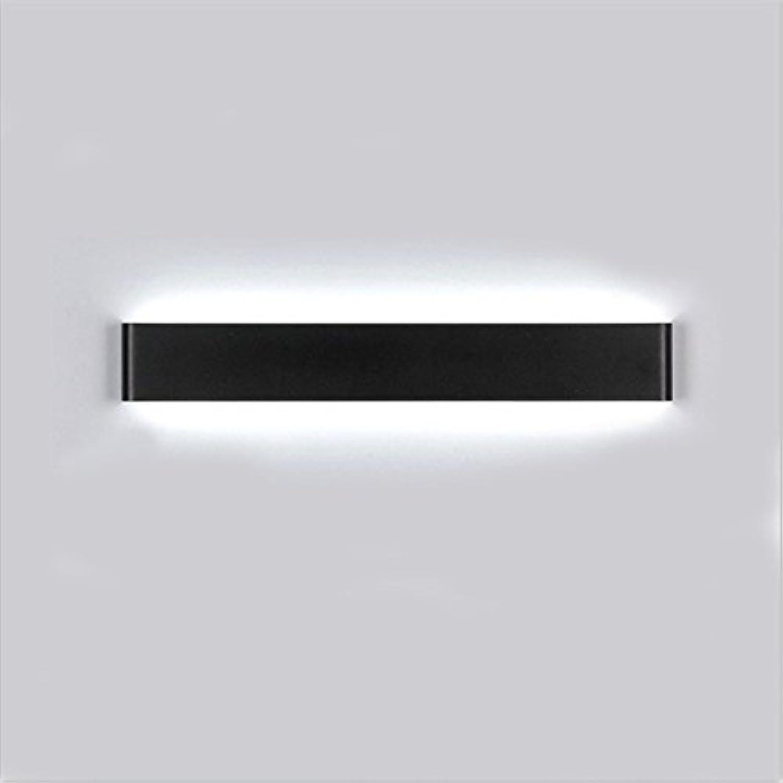 Moderne Und Einfach, LED Wandleuchte, Aluminium, Ganglichter, Kreativitt, Bad WC, Spiegel Vorderen Leuchten,schwarz-16W