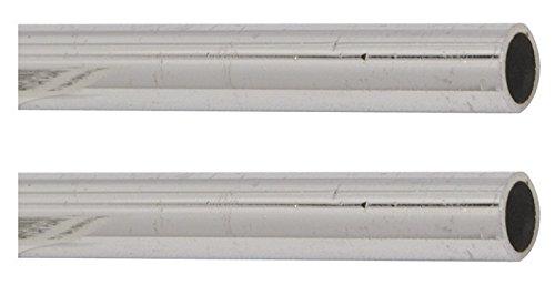 Kupferrohr für den Anschluss eines Wasserhahnes | 12 x 500 mm | Kupferrohr mit Bördelrand | Armaturenanschlussrohr | Anschluss Armatur | Verchromt