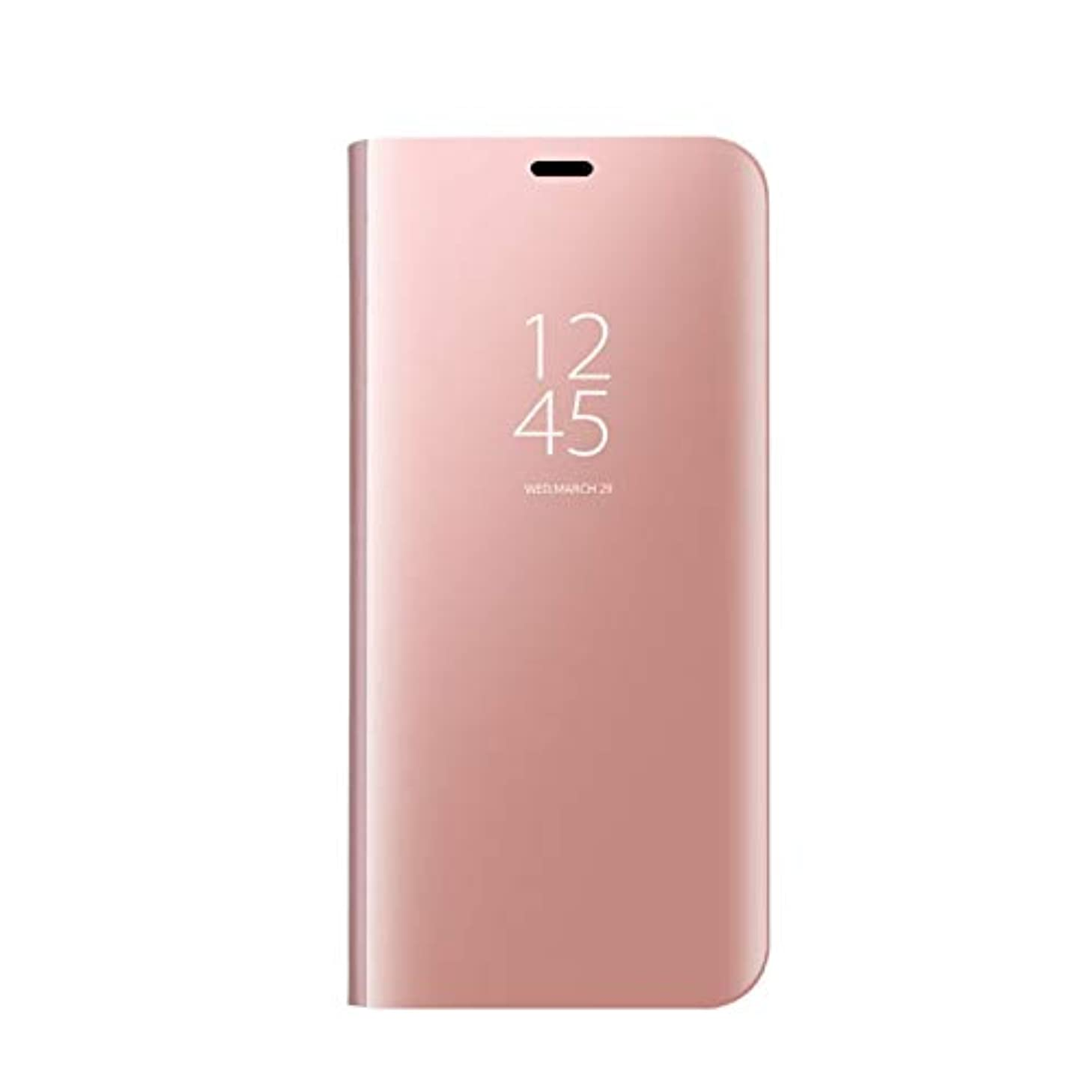 LIKESEA Huawei Mate 8 Case, Slim Fit Electroplate Plating Smart Clear View Case Flip Stand PC Hard Cover 360 Degree Full Body Shockproof Protective Skin for Huawei Mate 8 - Rose Gold