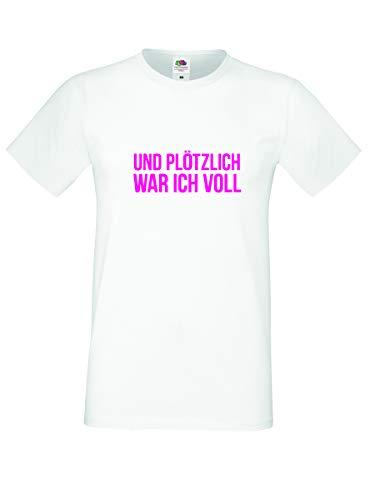 UND PLÖTZLICH WAR ICH VOLL Herren T Shirt Partyshirt Vatertag Trinkspruch Rosenmontag Karneval Fasching