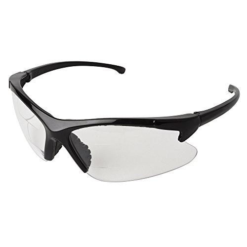 KLEENGUARD Dual Readers Safety Glasses (20388), Clear Lenses with +2.0 Diopters, Black Frame, 6 Pairs