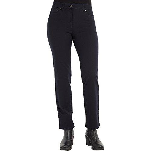 Zerres Damen Jeans CORA Straight Fit Comfort S Bi-Elastisch Stretch, Größe:42;Farbe:69 MARINENAVY