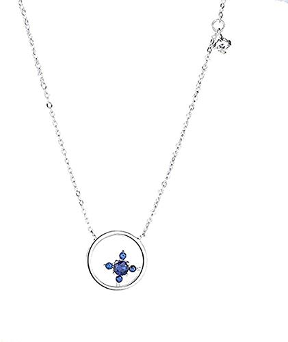 FACAIBA Necklace Woman Silver Color Micro Inlay Necklace Pendant Necklace for Women Birthday Jewelry for Women Girls