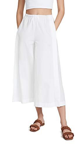Vince Women's Side Slit Culottes, Optic White, Medium