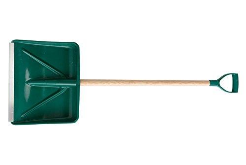 Leborgne Pelle poussoir à neige et à grains, Matière polymère, Réglette aluminium, Poignée plastique ergonomique, Manche bois 90 cm, Largeur: 45 cm, Poids: 1,6 kg