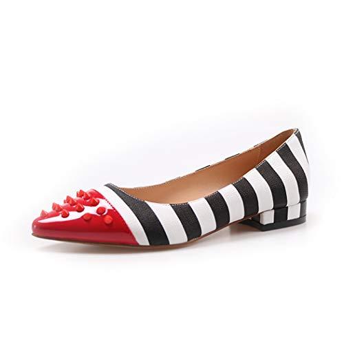 De mujer Stiletto Tacones altos tachonados Estampado Cebra Zapatos de corte Remaches Fiesta Boda Bombas de Gran Tamaño 45, color, talla 38.5 EU
