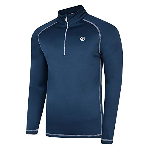 Dare 2b Herren Fuse Up Core Stretch Strick Warm Rückseite Schnelltrocknend Half Zip Active Ski & Snowboard Layer Top Lange Ärmel Stretch Midlayer M Blau (Admiral Blue)