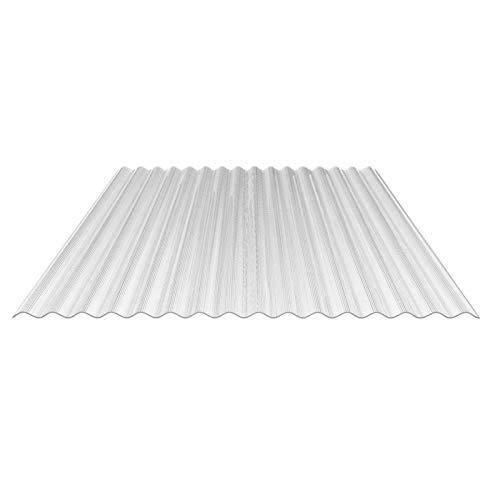 Lichtplatte | Wellplatte | Lichtwellplatte | Profil 76/18 | Material Polycarbonat | Breite 1116 mm | Stärke 1,4 mm | Farbe Glasklar | No Drop