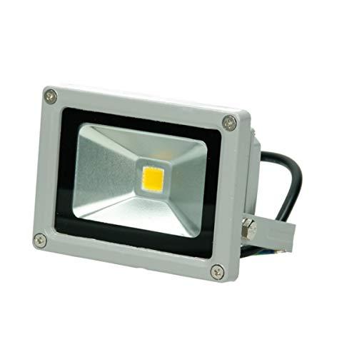 ECD Germany Projecteur LED Extérieur 10W - 600 lumens - 2800K Blanc chaud - Classe de Protection - Étanche IP65 - Projecteur Mural pour Extérieur - Super brillant - Éclairage de Sécurité Extérieur