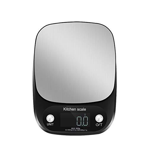 Digitale personenweegschaal, hoge precisie, digitale keukenweegschaal, keukenweegschaal, elektronische keukenweegschaal, huishoudweegschaal, minigram, levensmiddelweegschaal, zwart