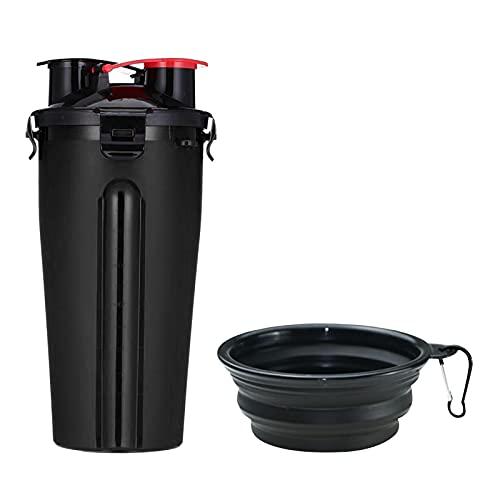 Botella de agua portátil para perros, dispensador de agua para perros a prueba de fugas, con cuencos para perros plegables, sin BPA, apta para gatos y perros Dispensadores de agua y recipientes