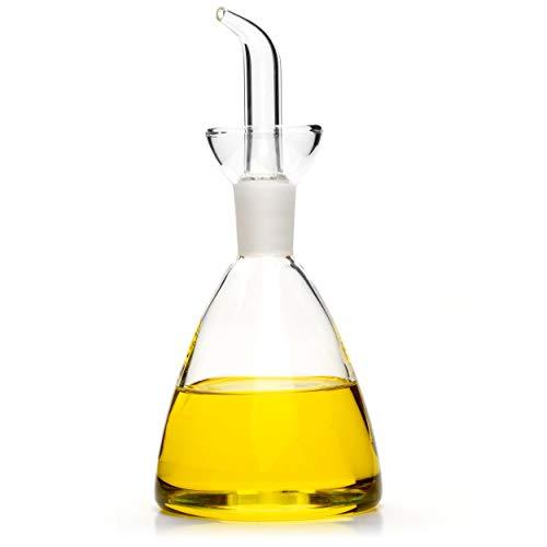 Classe Italy Oliera in Vetro salvagoccia Campana Dosatore Olio e Aceto, 125 milliliters