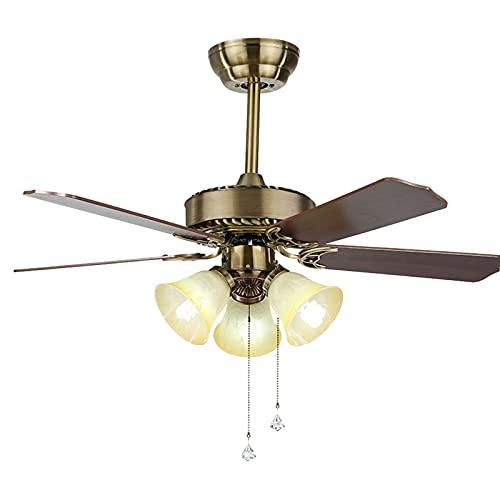 Heating Pads Ventilador De Techo con Luz con 65 W,Silenciosa,5 Aspas De Madera,6 Velocidades,Ultrasilencioso,55''De DiáMetro,Ceiling Fans Mando A Distancia,Brown,55inch