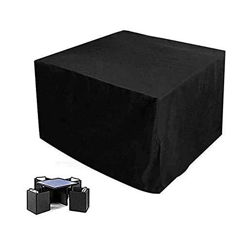 LBBZJM Garden Furniture Cover Patio Furniture Covers Outdoor Furniture Cover Waterproof Garden Sofa Cover Rectangular Black Equipment Protection, 28 Sizes (Color : Black, Size : 100X100X100cm)