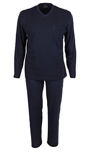 Ammann Pyjama Long pour Homme, 2 pièces, Couleur: Total Eclipse Bleu foncé, 100% Coton, Taille: 48-56 de Size 48/S