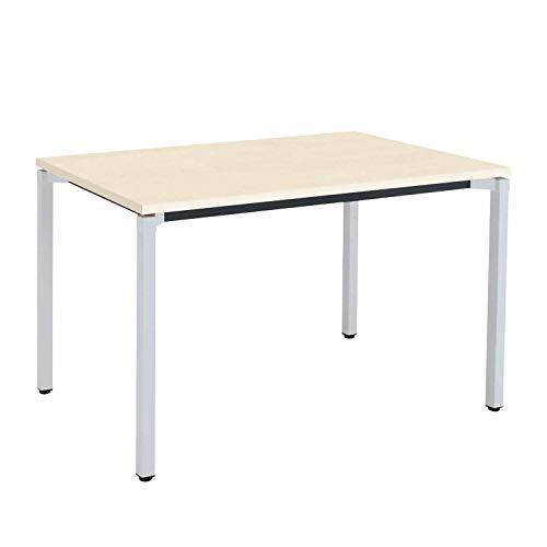 【配送・組立・設置込】 コクヨ ミーティングテーブル JUTO MT-JTK127S81M10N 角形天板 4本脚 幅120×奥行75×高さ72cm 天板ホワイトナチュラル/脚フラットシルバー