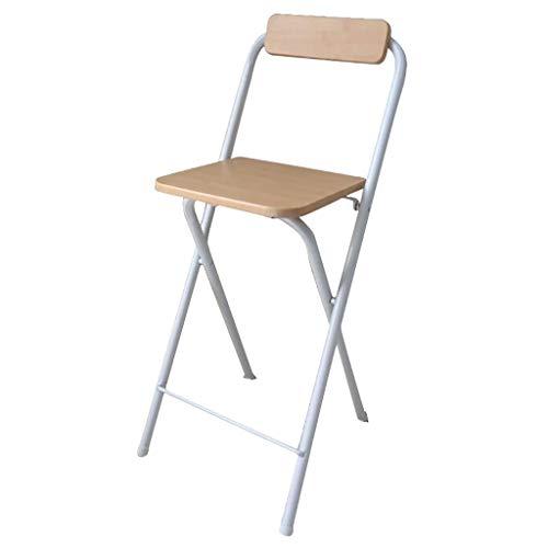 AIYE Klappstuhl Praktischer zusammenklappbarer Barhocker, Einfacher Barstuhl Hochstuhl Klapp Barhocker Esszimmerstuhl Tragbarer Erwachsener Stuhl Haushalt - 38x38x60cm - 4 Farben