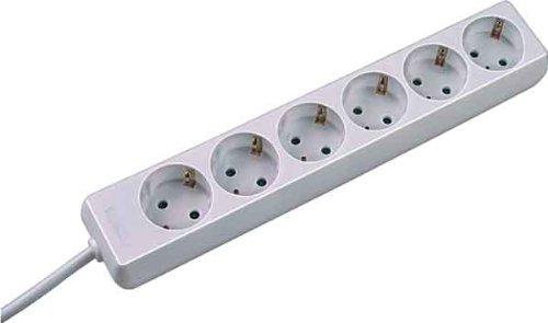 Bachmann Surge beschermstrip, 1,4 m spanningsbegrenzer 6 uitgangen AC 250 V 1,4 m wit - stekkerdoos (1,4 m, 6 uitgangen AC, 250 V, 3600 W, 1,4 m, wit, 450 g