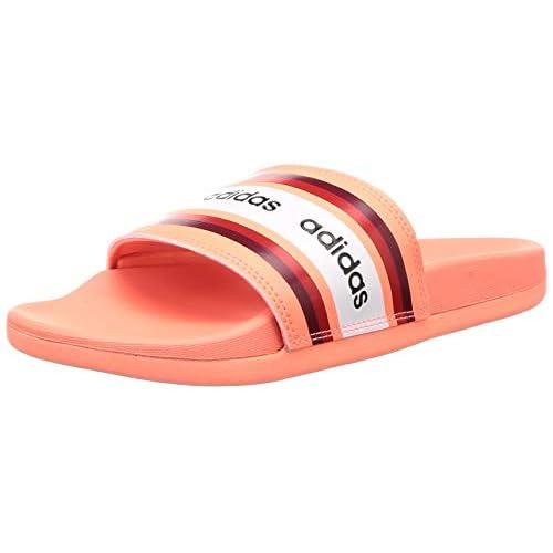adidas Adilette Comfort, Sandali Donna, Corallo (Signal Coral/Collegiate Burgundy/Footwear White), 40.5 EU
