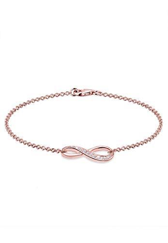 Elli Armband Damen mit Infinity Symbol mit Zirkonia Kristall in 925 Sterling Silber