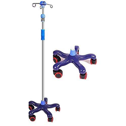 Ständer für Infusionsständer Medizinischer Infusionsständer mit Rolle 43~75 Zoll höhenverstellbarer Präsentationsständer - für Krankenhaus, Privatklinik und Zuhause (3 Beine / 5 Beine)